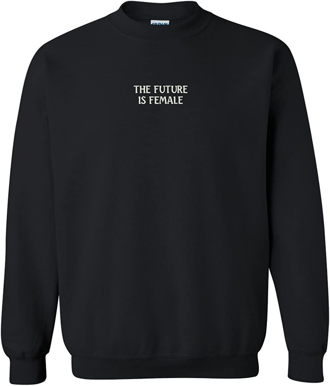 Trendy Apparel Shop The Future is Female Embroidered Crewneck Sweatshirt