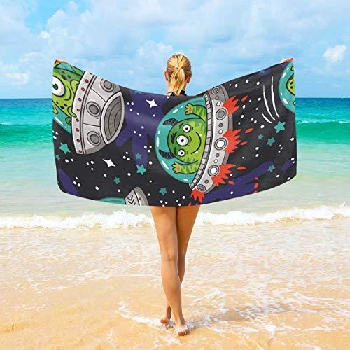 Olie Cam Alien Monster Spaceship Toalla de baño Mantas de Microfibra Toalla de Piscina Toalla de Viaje de Playa Toalla de Yoga Toalla para niños