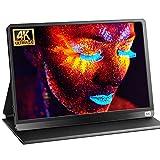 Monitor portátil USB C 4k: 15,6 pulgadas, 3840 x 2160, 100 % SRGB UHD IPS, protección ocular portátil, monitores tipo C, HDMI con funda protectora para PC, portátil, conmutador, Xbox PS3, PS4
