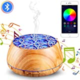 YOUNGDO Diffusore di Oli Essenziali 400 ml, Diffusore di Aromi 30 Colori LED con Altoparlanti Bluetooth, Umidificatore Ambiente con Bluetooth App, per Ufficio,Yoga,Spa,Camera, ECC