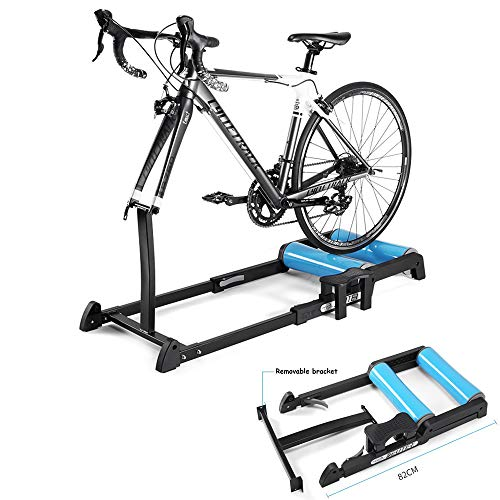 Retractable Bike Trainer Verstelbare Overdekte Fietsenstalling Training Rollers Bracket Trainer Thuis Fitness Oefening Fietsen Rolbok Road Bike Cycling Trainer