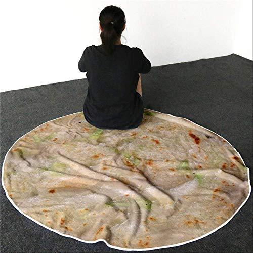 YMKXXB Coperta di Lana Coperta Presa Biancheria da Letto 3D Coperta di Flanella di Tortilla di Mais...