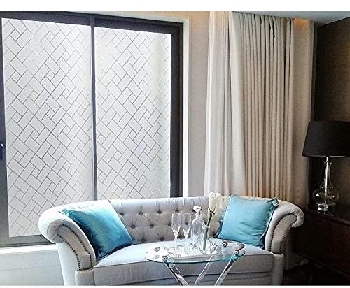 Pegatinas electrostáticas UV esmeriladas, Pegatinas de Vidrio de Aislamiento de privacidad, adecuadas para Puertas y Ventanas de la Oficina en casa E 60x100cm