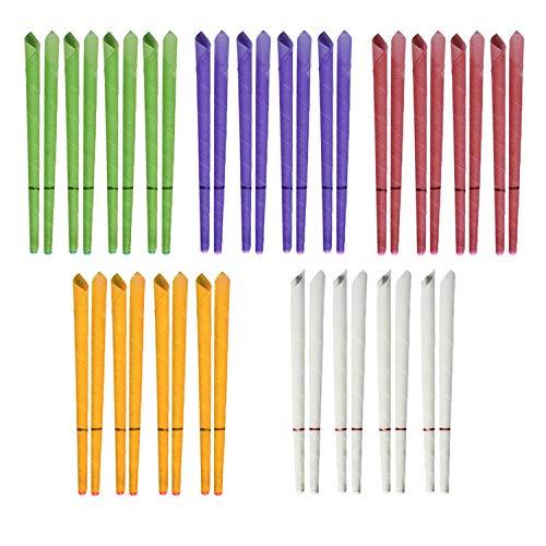 Incutex 40x sanft duftende Ohrkerzen mit verschiedenen Duft-Extrakten, verschiedene Farben