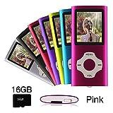 Ueleknight MP3/ MP4 Player con Scheda Micro SD da 16 GB,Lettore Musicale Digitale Portatil...