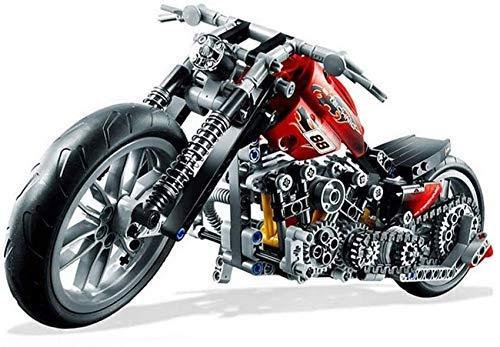 Bloques de construcción de motos, carreras de velocidad Motocicleta DIY Assembly Toys Children Educational 3D Puzzle Modelo Regalos de ladrillos para niña, regalos de cumpleaños para niños (374pcs) ky