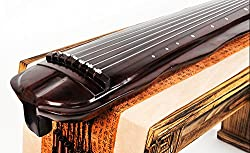 OrientalMusicSanctuary JIAOYE (Banana Leaf Design) Reclaimed Century Old Fir Guqin for Advanced Performers