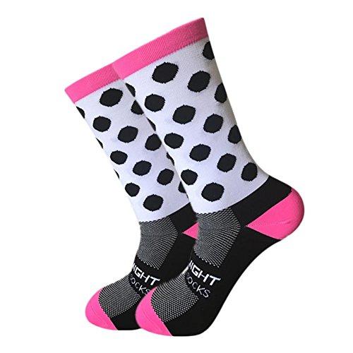 Puro Calcetines de Montar a Media Onda, Haodene Calcetines de deporte al aire libre para hombres y mujeres, Calcetines deportivos de compresión al aire libre