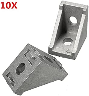 WCHAOEN Suleve AJ28 Aluminium Angle Corner Joint 28x28mm Right Angle Bracket Furniture Fittings 10pcs Accessories Tool