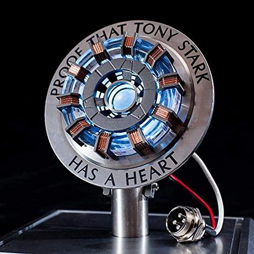 WXHJM Reactor Arco de Iron Man MK1/MK2,1:1 Luz LED,Control Sensores de Vibración Interfaz USB Producto Terminado Caja de Exhibición Juguetes Regalo,Figura de Acción del Reactor Arco MK2