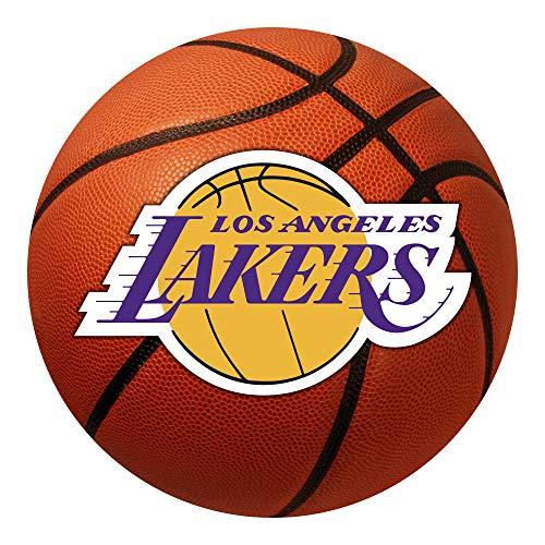 "FANMATS 10209 NBA Los Angeles Lakers Nylon Face Basketball Rug,26"" diameter"