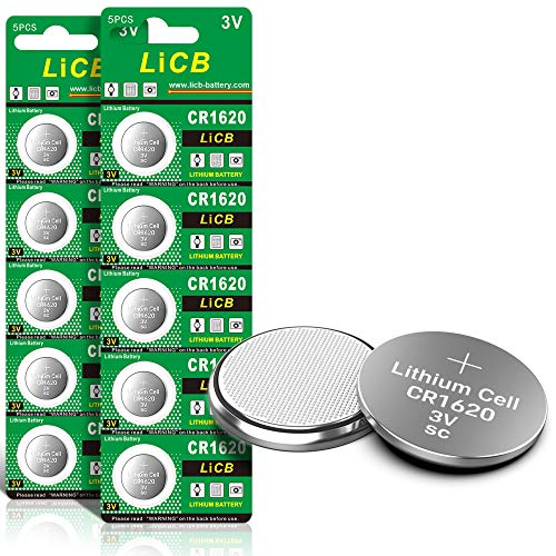 LiCB CR1620 3V Lithium Battery CR 1620 (10-Pack)