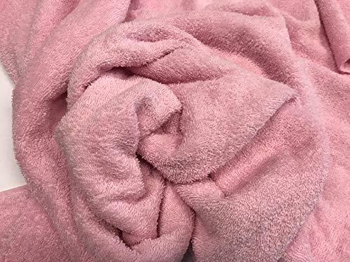 tela de rizo, color rosa, tela de toalla, algodón 100%, albornoces, cambiadores, tela por metros, 1 metro x 160 cms, ENVIOS GRATUITOS