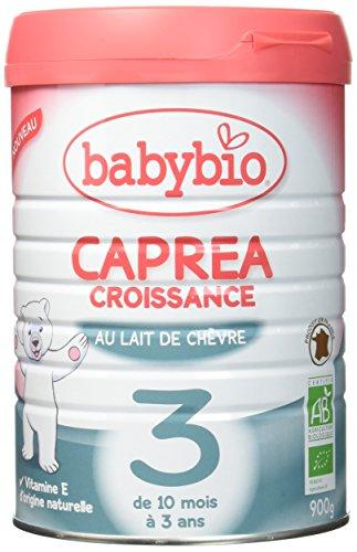 Babybio Caprea Croissance Lait de Chèvre Bio pour les Bébés 10 / 36 Mois 900 g