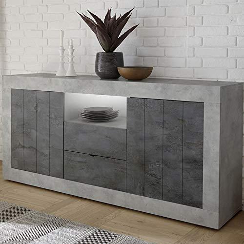 Dressoir 180 cm grijs beton-effect Modern Urban 7