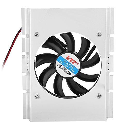 Tonysa Festplattenkühler,HDD Doppelventilator Kühlung Kühler,Leiser Festplattenlaufwerk Kühlkörper,Kompatibel mit 5000RPM Blasgeschwindigkeit/maximaler Windstärke