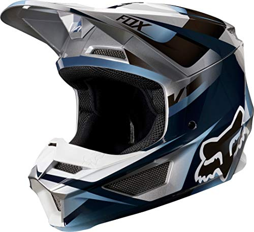 FOX V-1 Motif Helmet, Niños Unisex, Blue/Grey, XL