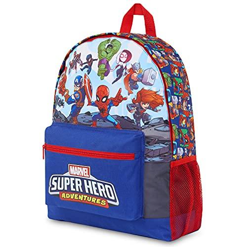 Marvel Avengers Mochilas Escolares Juveniles, Mochila Colegio De Los Vengadores Con Hulk Capitan America, Spiderman Y Bruja Escarlata, Regalos Niños