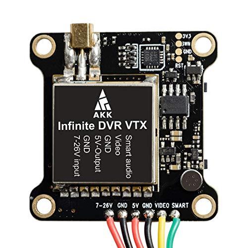 AKK TX196 5.8G VTX Transmisor de Video FPV de Largo Alcance Construido en OSD con Ranura para Tarjeta SD