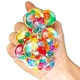 German Trendseller® - 6 x Ultra Squishy - Regenbogen Quetschball ┃ NEU ┃ Marble Glibber Ball ┃ Mitgebsel ┃ Kindergeburtstag ┃ Anti Stress - Bubble Ball┃ 6 Stück