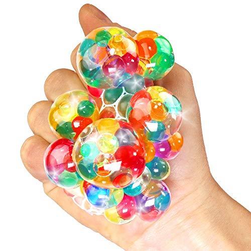 German Trendseller® - 24 x Ultra Squishy - Regenbogen Quetschball ┃ NEU ┃ Marble Glibber Ball ┃ Mitgebsel ┃ Kindergeburtstag ┃ Anti Stress - Bubble Ball┃ 24 Stück
