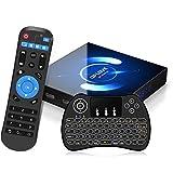 Android 10.0 TV Box con teclado QPLOVE 4 GB de RAM 32 GB de ROM H616 Quad Core CPU 2.4G 5G Dual WiFi Bluetooth 5.0 LAN Soporte 1080P H.265 4K Smart Android TV Box