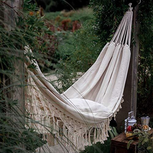 XXCC Outdoor Dubbele Boho Tassel Nest Hangmat Opknoping Netto Stoel schommels schommelstoel Indoor Picknick Tuin Macrame Hangmat Thuis Creatieve Hangmatten