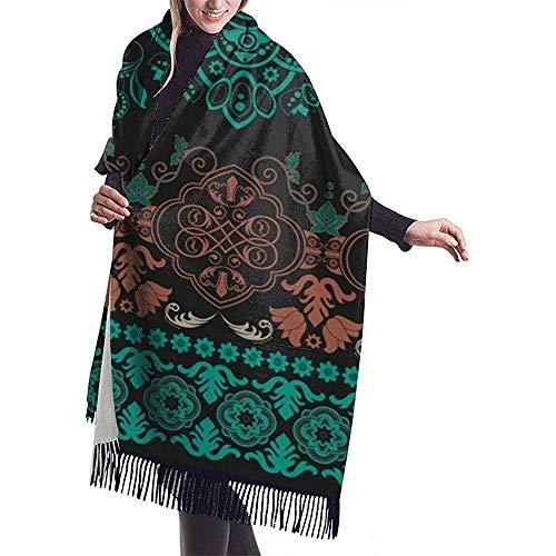 Regan Nehemiah grote sjaal gestreept naadloos patroon bloempot sjaal wrap winter warme sjaal cape oversized sjaal travel blanket sjaal
