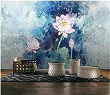 Fototapete 3D Effekt Pink Lotus Zen Klassik Fototapete Vlies Tapete Bilder Wand Wanddeko Dekoration...