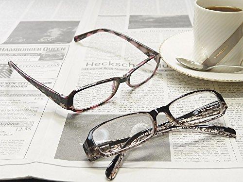 老眼鏡 デザインシニアグラス おしゃれな男性用・女性用  M1003 (+2.50, ブラウンメッシュ)