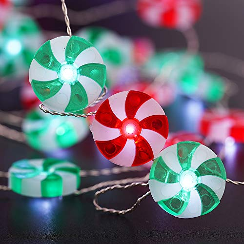 BOHON Candy Decorative Lights LED String Lights Battery Operated 10ft 40LEDs Fairy Lights with Remote Sweet String Lights for Bedroom Thanksgiving Indoor Halloween Christmas Tree Decor (Multicolor)