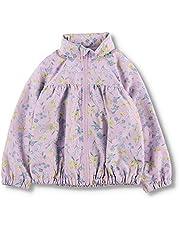 [ブランシェス] 撥水加工 花柄 ウィンドブレーカー 女の子 キッズ ガールズ ジャンパー アウター 裏地付き