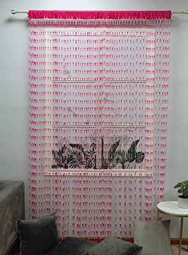 ZiDeTang Acrylic Beaded Door Curtain Home Décor Tassel Room Divider Curtain (Rose, 100cm by 195cm)