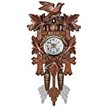 Vintage Relojes de Cuco silencioso, Relojes de Pared Columpio Arte Decoración Home Sala de Estar Cocina Oficina Restaurante