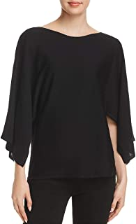 Womens Boat Neck Cape Sleeves Blouse