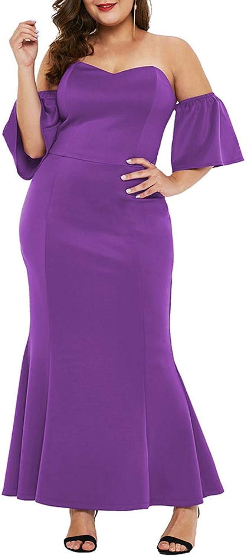 High Waist Evening Dress Large Size Women's Tube Top Long Skirt Sexy Strapless Dress Bag Hip Wedding Cocktail Clothing