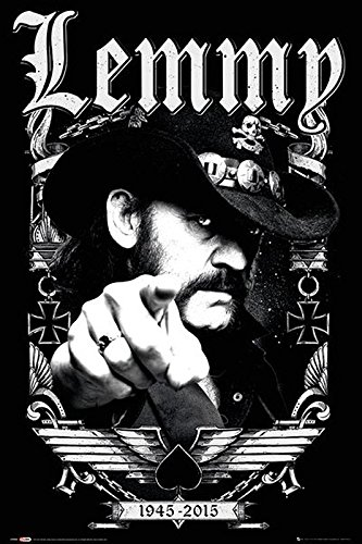 Close Up Motörhead Poster Lemmy 1945-2015 (61cm x 91,5cm) + Ü-Poster