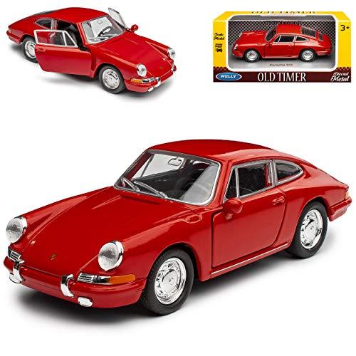 alles-meine.de GmbH Porsche 911 Urmodell Coupe Rot 1963-1973 ca 1/43 1/36-1/46 Welly Modell Auto