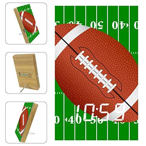 American Football Field Acryl LED Licht Wecker Batterie Netzteil für Schlafzimmer Büro, acryl, mehrfarbig09, 6.2x3.8x0.9 in