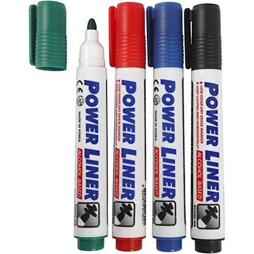 Whiteboard-marker, 4 mm, 4 stuks