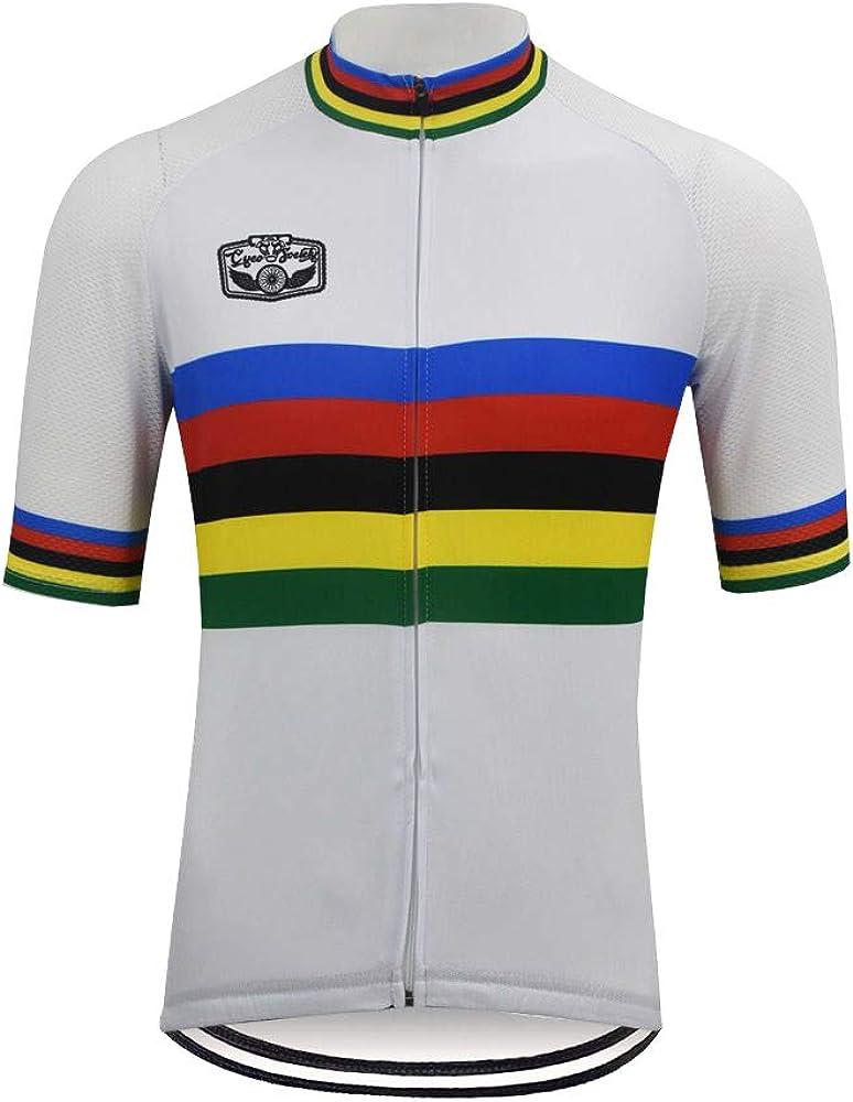 OUTDOORGOODSTORE Men's Cycling Jersey Sleeve Bike Ranking TOP14 Shirt store Short
