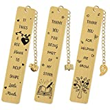 Teacher Appreciation Bookmark Teachers Gifts Set of 3 Color Gold Thank You Gifts from Students Graduation Gift Back to School Gift Special Teacher Gift Metal End of The Year