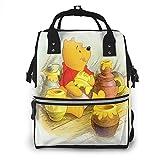 Win-nie Pooh, zaino per pannolini di grande capacità, borsa per bambini, multifunzione, con cerniera, zaino da viaggio casual per mamma e papà unisex