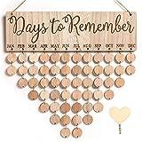MACTING Family Birthday Board DIY Hanging Wooden Birthday Reminder Calendar Important Dates Tracker Home Decor...
