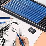 wosume Juego de lápices para Dibujar bocetos, Herramientas de diseño de Dibujo de Madera, Suministros de papelería, Herramientas de Pintura, para Pintores Profesionales