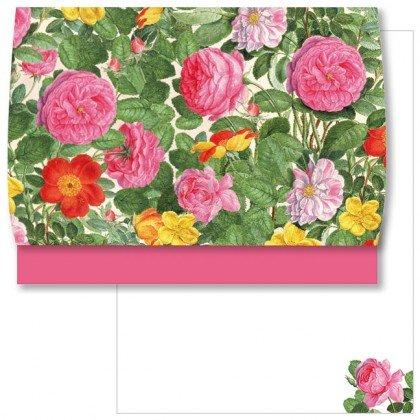 Briefpapier Schreib Set Rosen aus dem Nassau Florilegium