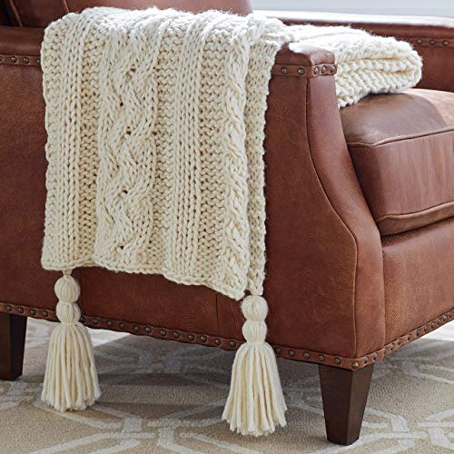 Amazon Brand – Stone & Beam Cozy Cable Knit Chunky Weave...