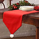 Christmas Table Runners Washable Classic Christmas Table Lines with Snow Balls Decor for Xmas Holiday Season Home Table Christmas Decoration 14x 70 Inch
