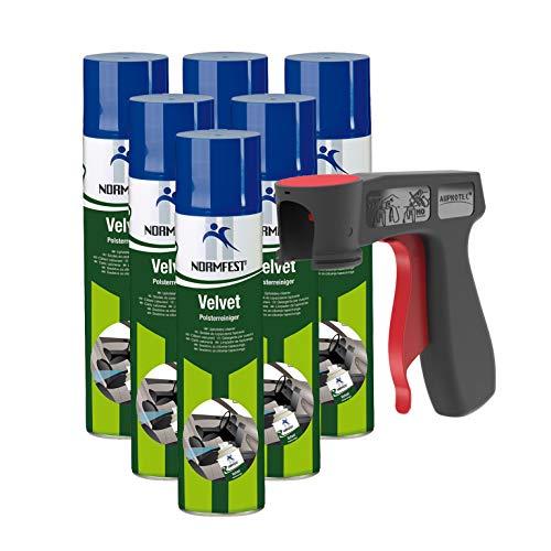 Auprotec®, Normfest, Velvet, Pulitore per tappezzeria interna dell'auto, smacchiatore, schiuma detergente, 400ml