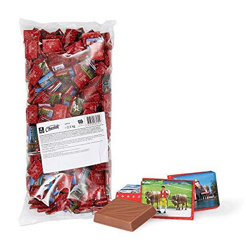 Frey 2, 5 kg Napolitains Swiss Schokolade Beutel - extra feine Milchschokolade - Chocolate Snacks - Schweizer Schokolade - Großpackung 1x 2500 g - UTZ zertifiziert